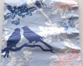 paper - birds BUTTERFLIES flowers No. 8 napkins 4749
