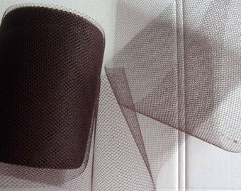 20 yards of TULLE 9.5 cm wide chocolate color ref 301390