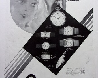 old press advertising watch OMEGA ref 1931. 56893