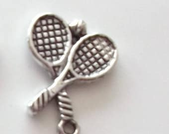 6 charms for creating jewelry RACKETS and ball REF. 88595