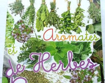 painting collage on canvas - herbs - 40X50cm