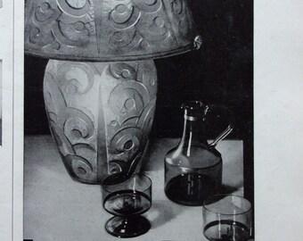 press advertising old glassware DAUM 1930 REF. 56854
