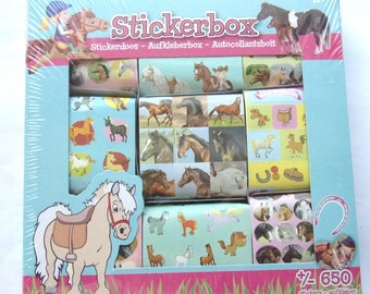 great lot of 650 fantasy - horses THEME STICKERS