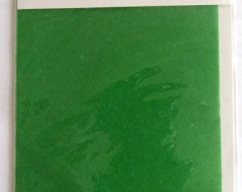 for scrapbooking - size 10x15cm VELVET sheet - color green REF. 7863029