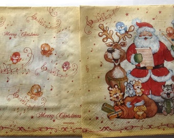 20 the choir of Santa Claus paper napkins - REF.  3485