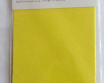for scrapbooking - size 10x15cm VELVET sheet - color yellow REF. 7863020