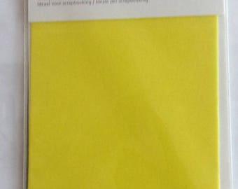 for scrapbooking - size 10x15cm VELVET sheet - color yellow REF. 7863020