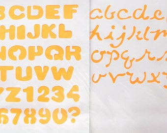 STENCIL plastic-2 boards ALPHABETS uppercase and lowercase REF. 7670