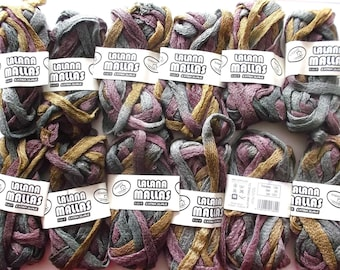 Ribbon yarn has knit x 12 color old pink BEIGE grey REF. 1380
