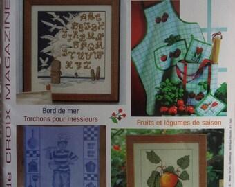 magazine POINT DE CROIX magazine No. 50 - 2007 - seaside - FRUITS and vegetables
