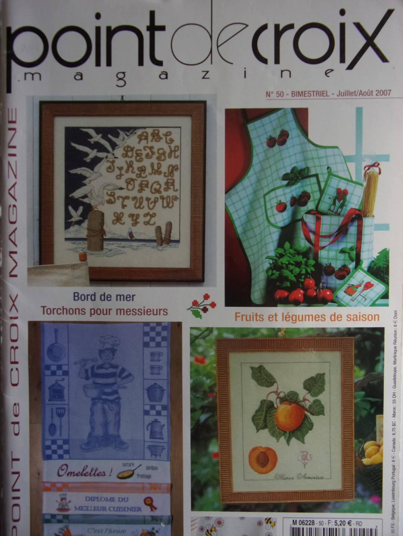 L Art Du Point De Croix magazine point de croix magazine no. 50 - 2007 - seaside - fruits and  vegetables