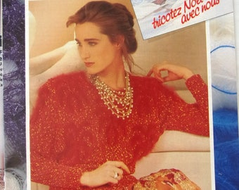 booklet of KNITTING vintage patterns and work - December 1986