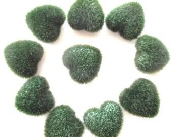 DECORATIVE hearts x 45 - soldier - color green REF. 225