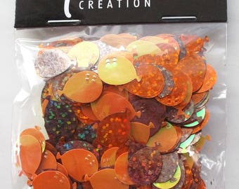 bag of GLITTER confetti balloons colors ORANGE and Brown iridescent REF. 875