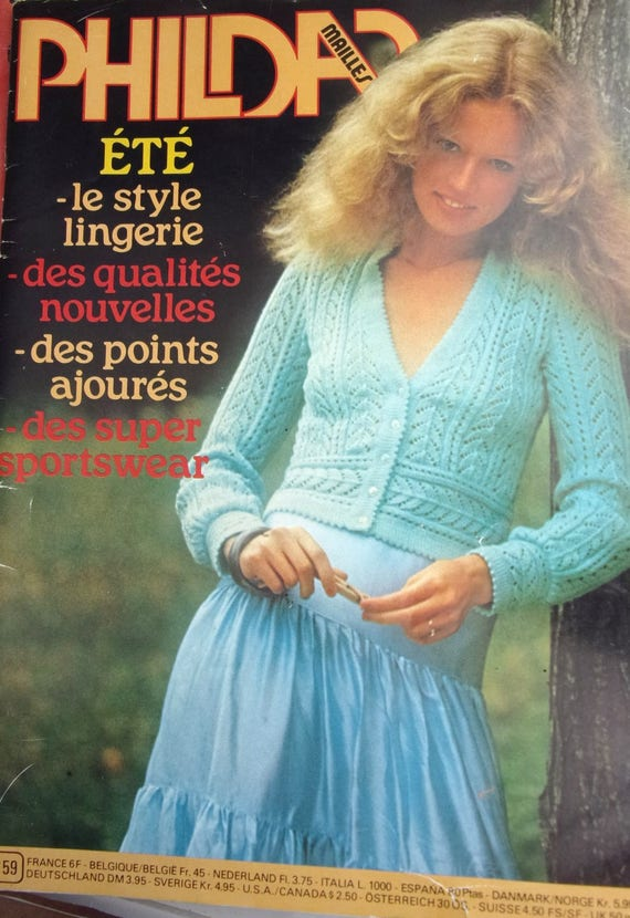 Catalogue Of Phildar Knitting Was No 59 61 Model Men And Etsy