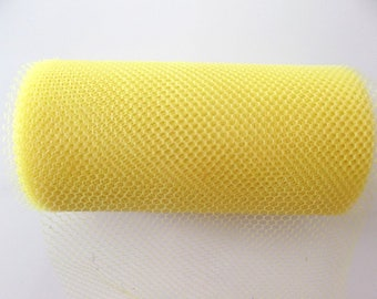 WEDDING DECORATION - 5 meters of TULLE 10 cm wide ref.790 neon yellow