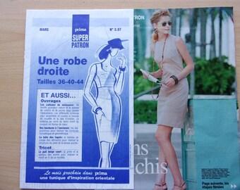 prima sewing pattern / / shift dress / women / REF. 3.97