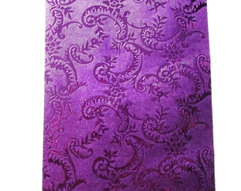BOLDUC packaging gifts x 2 meters embossed VIOLET color shiny REF. 115