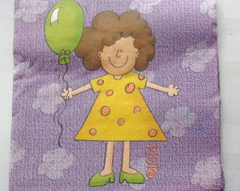 paper girl PIUIO yellow No. 12 napkins   3561