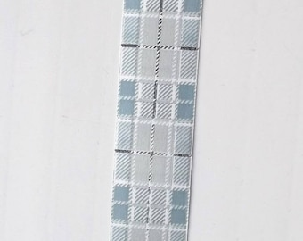 BOLDUC packaging gifts x 5 - color gray - grounds Scottish TARTAN ref.539