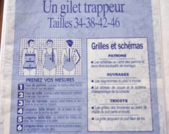 Prima sewing pattern / trapeur women vest / REF. 1.95