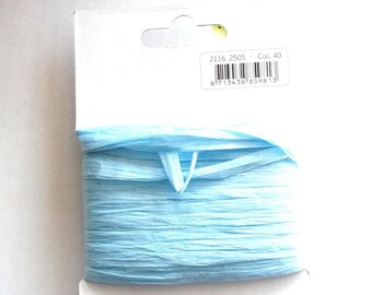 25 meters of Ribbon of RAFFIA - sky blue color - REF. 40