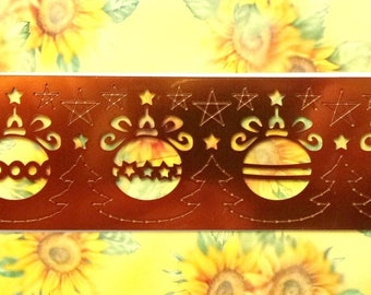 METAL STENCIL for EMBOSSING or EMBOSS - ref.71 Christmas balls