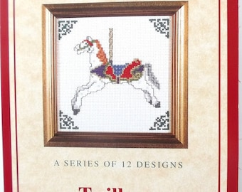TABLE KIT to EMBROIDER - Wood horse REF. 313