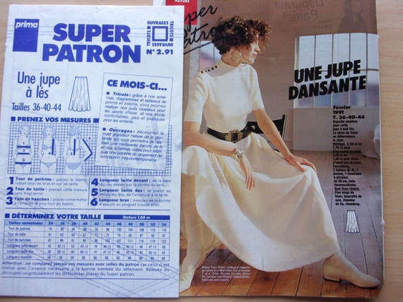 Sewing Pattern Prima Skirt To The Women Ref 2 91 Etsy