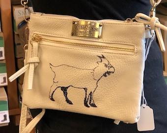 Hand Painted Crossbody Purse- Goat