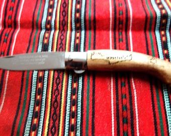 Folding Knife Handmade oak tree wood ,very sharp!!!