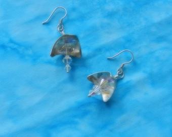 Silver earrings, Swarovski earrings, Swarovski crystal earrings, Sterling earrings, Sterling silver,