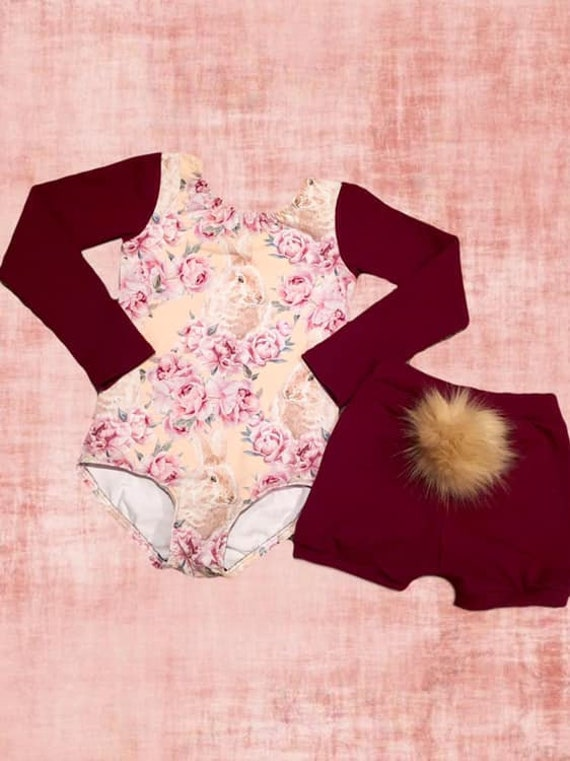 BABYGIRL BUNNY TAIL bummie set Easter
