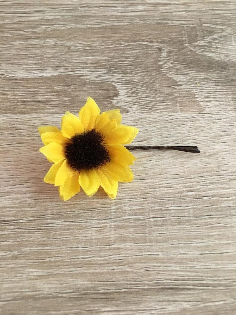 Sunflower Hair Clip Flower Hair Pin Clip Floral Hair Clip Mini Sunflower Hair Pin Sunflower Barrette Floral Hair Pin Flower Hair Clip