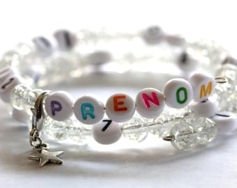 Add the name in color on your nursing bracelet