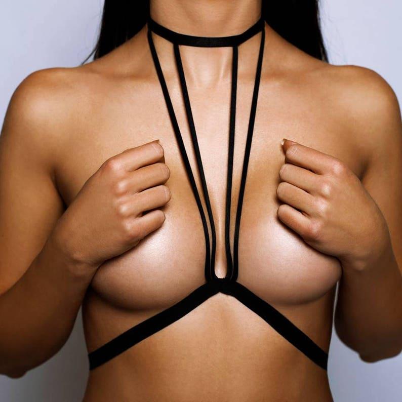 b91a92c970 Body harness bra Black harness Black body harnesses with