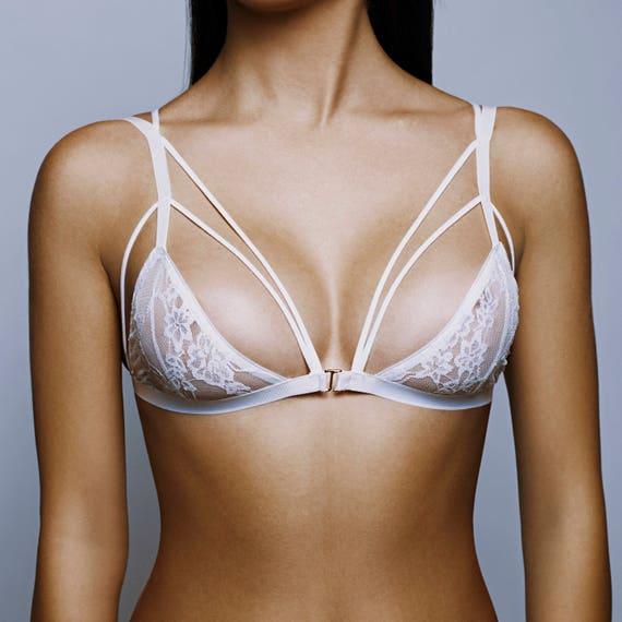 1eea08d884 Lace bra straps Mesh lingerie Soft bra underwear Comfy