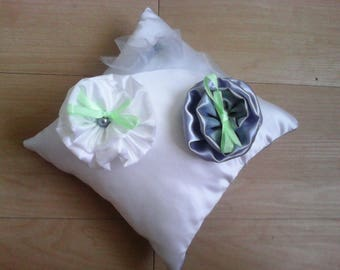 for satin wedding ring pillow