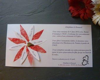 Faire-part mariage original avec enveloppe