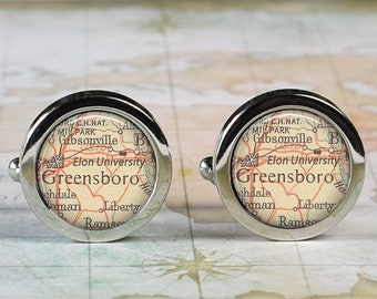 Tufts University map cufflinks school cufflinks graduation ...