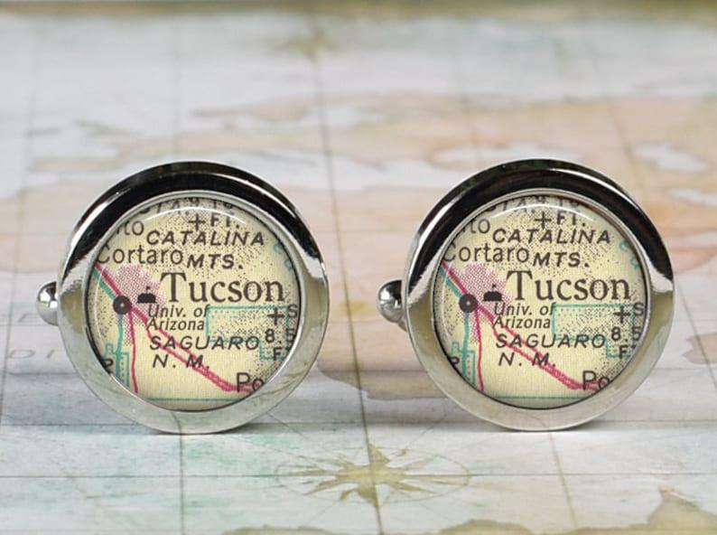 Map University Of Arizona.University Of Arizona Cufflinks Ua Cufflinks Tucson Map Graduation Gift Arizona Wildcats College Student Or Alumni Gift Retirement Gift