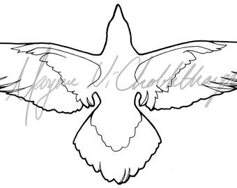 Basic Raven Lineart