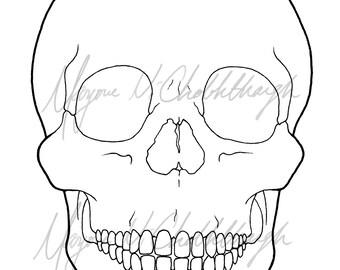Basic Skull Lineart