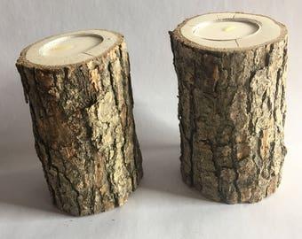 Log candle set