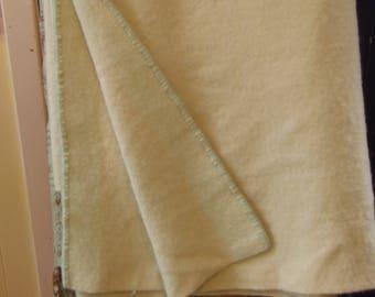 VINTAGE MINT GREEN Wool Blanket