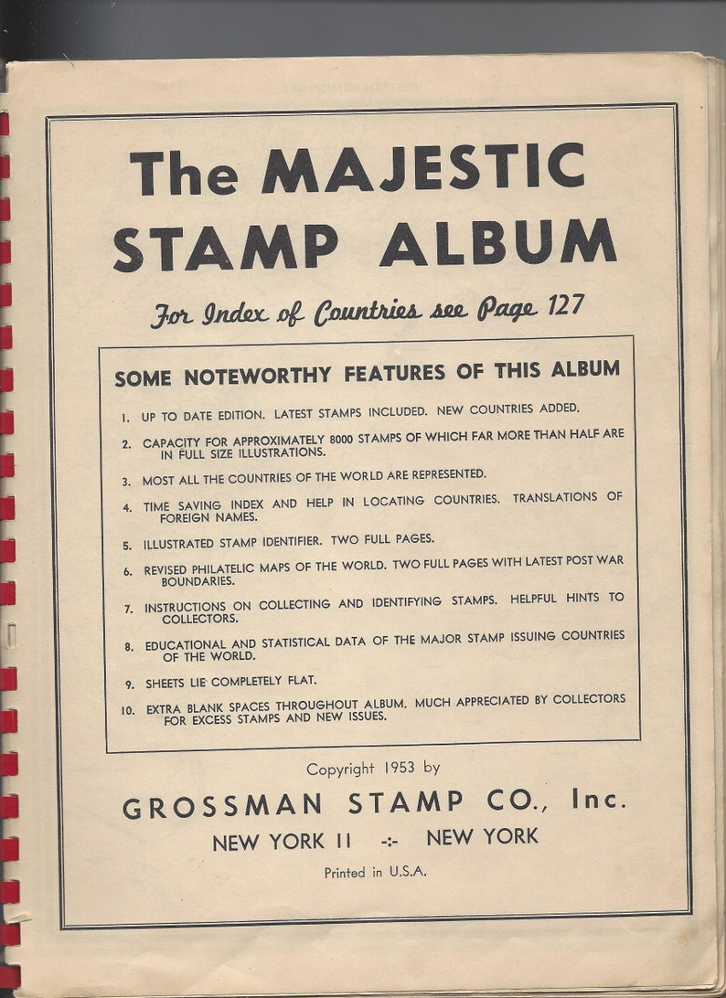 1950's MAJESTIC STAMP ALBUM