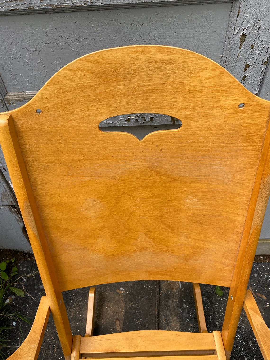 Vintage, Full Size,  Wood, FOLDING ROCKING CHAIR Clement Brothers, Trois Rivieres Quebec