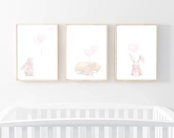 bunny art prints, rabbit nursery art, nursery prints, woodland prints, nursery art, nursery prints, bunny nursery prints, rabbit wall art