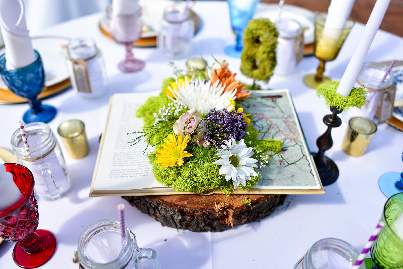 Wedding Centerpieces Using Moss Topsimages