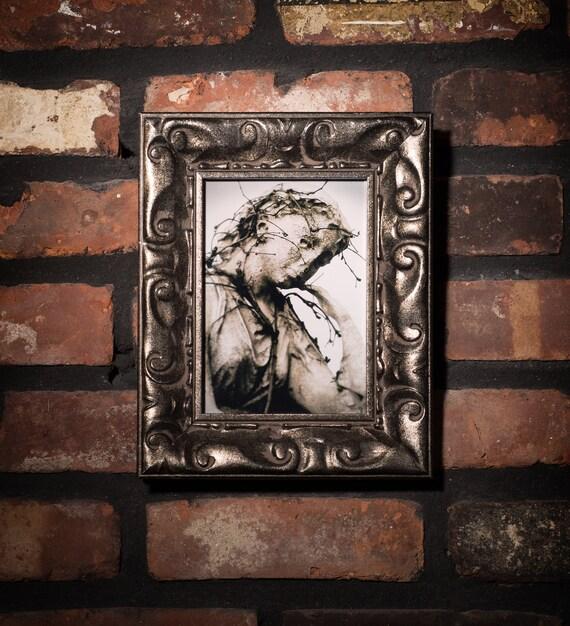 Espeluznante cementerio Angel enmarcado foto | Etsy